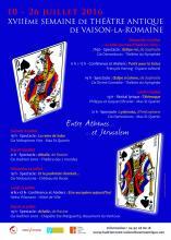 Affiche du Festival de théâtre antique de Vaison-la-Romaine