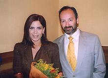 Katerina et son mari, Takis Veremis