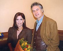avec le cinéaste et romancier Babis Plaïtakis (Greco et le Grand Inquisiteur)