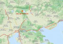 Emplacement de Kerkini sur la carte régionale