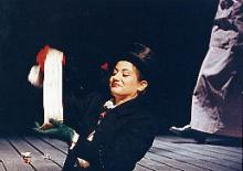 Anastassia Politi dans la Cerisaie de Tchékhov, 1992