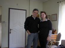 Nikos Porotkaloglou : pose photo avec notre reporter Alexia