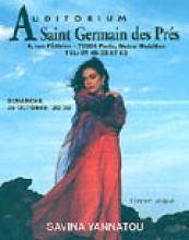 Affiche du concert à l'Auditorium Saint Germain