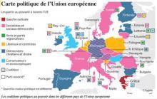 Les couleurs de l'Europe politique en 2015