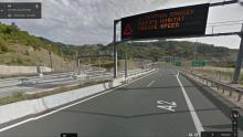 L'entrée du tunnel traversant le Pinde sur la via Egnantia, dans StreetView de Google
