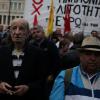 Selon la police, plus de 10.000 personnes auraient manifesté à Athènes, en réponse au projet de loi comprenant de nouvelles coupes dans les retraites et des hausses d'impôts. (Crédits : REUTERS/Alkis Konstantinidis.)