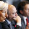 """Après des mois de négociations, Christine Lagarde, la directrice générale du FMI, a annoncé que l'institution internationale participerait """"en principe"""" au programme mais ne débloquerait des fonds qu'après avoir obtenu davantage de précisions sur l'allègement de la dette grecque. (Crédits : Reuters François Lenoir)"""